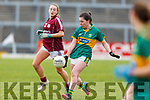 Kerrys Sarah Murphy clears her defence in the Lidl Ladies NFL game in Fitzgerald Stadium, Killarney on Sunday last.