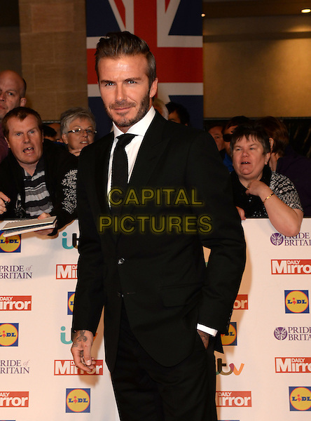 David Beckham attends the Daily Mirror Pride of Britain Awards 2015, Grosvenor House Hotel, Park Lane, London, England, UK, on Monday 28 September 2015. <br /> CAP/DH<br /> &copy;David Hitchens/Capital Pictures