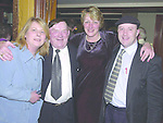 Deputy Jackie Healy Rae TD at his general election  fundraising dance in The Gleneagle Hotel Killarney on Friday night with, from left, Hanna Curtin, Farranfore, Angela Daly, Scarteen and Cllr. Michael Healy Rae..Pic: Eamonn Keogh (MacMonagle, Killarney) Jackie Healy-Rae, TD from the book by Don MacMonagle entitled 'Jackie - Keeping Up Appearances' published in 2002.