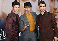 "02 June 2019 - Westwood Village, California - Nick Jonas, Joe Jonas, Kevin Jonas. Amazon Prime Video ""Chasing Happiness"" Los Angeles Premiere held at the Regency Village Bruin Theatre. <br /> CAP/ADM/BB<br /> ©BB/ADM/Capital Pictures"
