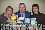 Kathy O'Shea, Sean O'Sullivan and Jacinta O'Callaghan who will be holding a book sale in aid of Killarney Mental Health in Killarney Outlet Centre on Easter Sunday