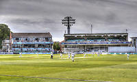 HDR Artistic view of the Frank Wooley and Colin Cowdrey stands during the Specsavers County Championship Div 2 game between Kent and Sussex at the St Lawrence Ground, Canterbury, on May 11, 2018