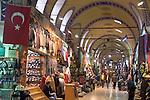 Istanbul; Turkey; Grand Bazaar, Kapali Carsi, Bazaar district; famous public markets,