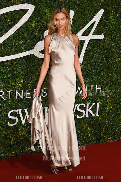 Karlie Kloss arrives for British Fashion Awards 2014 at the London Coliseum, Covent Garden, London. 01/12/2014 Picture by: Steve Vas / Featureflash