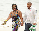 Dana and Stephanie engagement in Seal Beach