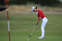 Minjee Lee (AUS) on the 1st green during Round 2 of the Ricoh Women's British Open at Royal Lytham &amp; St. Annes on Friday 3rd August 2018.<br /> Picture:  Thos Caffrey / Golffile<br /> <br /> All photo usage must carry mandatory copyright credit (&copy; Golffile | Thos Caffrey)