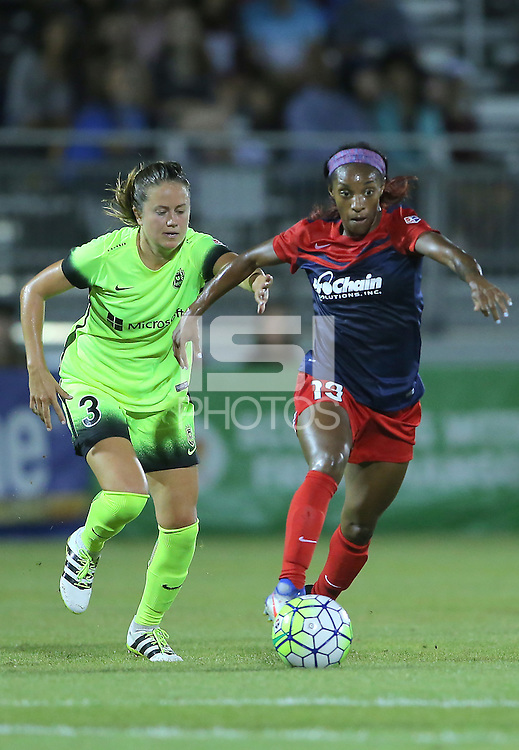 Boyds, Maryland. - Wednesday, September 07 2016: The Washington Spirit defeated the Seattle Reign 2-1in a WNSL match at Maureen Hendricks Field.