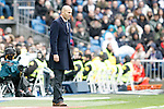 Real Madrid's coach Zinedine Zidane during La Liga match. February 13,2016. (ALTERPHOTOS/Acero)