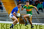 Graham O'Sullivan South Kerry in action against Tommy Begley Kerins O'Rahillys in the Kerry Senior Football Championship Semi Final at Fitzgerald Stadium on Saturday.