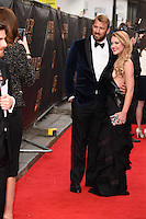 Chris Robshaw and Camilla Kerslake arrives for the Olivier Awards 2015 at the Royal Opera House Covent Garden, London. 12/04/2015 Picture by: Steve Vas / Featureflash