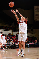 STANFORD, CA - NOVEMBER 26: Jeanette Pohlen of Stanford women's basketball warms up prior to a game against South Carolina on November 26, 2010 at Maples Pavilion in Stanford, California.  Stanford topped South Carolina, 70-32.