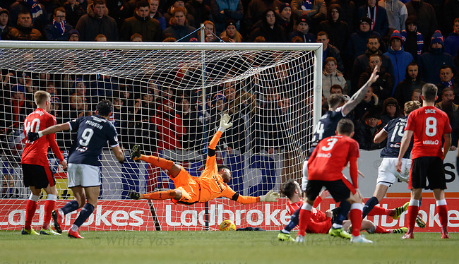 Mark O'Hara scores the opener for Dundee past Wes Foderingham