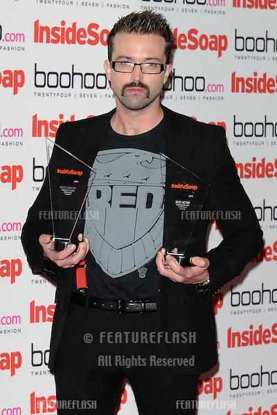 Emmett J Scanlan arriving for the 2012 Inside Soap Awards, at No.1 Marylebone, London. 24/09/2012 Picture by: Steve Vas / Featureflash