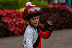 DEL MAR, CA  SEPTEMBER 3:  Future jockey in the paddock before the Del Mar Juvenile Fillies Turf on September 3, 2018, at Del Mar Thoroughbred Club in Del Mar, CA. (Photo by Casey Phillips/Eclipse Sportswire/Getty ImagesGetty Images
