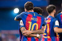 FC Barcelona's forward Leo Messi and forward Neymar Santos Jr celebrating a goal during Copa del Rey (King's Cup) Final between Deportivo Alaves and FC Barcelona at Vicente Calderon Stadium in Madrid, May 27, 2017. Spain.<br /> (ALTERPHOTOS/BorjaB.Hojas) /NortePhoto.com
