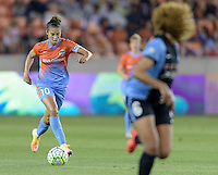 Carli Lloyd (10) of the Houston Dash bringing the ball up the field in the first half against the Chicago Red Stars on Saturday, April 16, 2016 at BBVA Compass Stadium in Houston Texas.