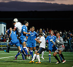 Lee McCulloch heads in for Bilel Mohsni to score at the far post