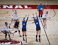 STANFORD, CA - December 1, 2017: Michaela Keefe at Maples Pavilion. The Stanford Cardinal defeated the CSU Bakersfield Roadrunners 3-0 in the first round of the NCAA tournament.
