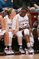 STANFORD, CA - NOVEMBER 20:  Nnemkadi Ogwumike of the Stanford Cardinal talks with Lindy La Rocque during Stanford's 84-46 win over the University of New Mexico on November 20, 2008 at Maples Pavilion in Stanford, California.