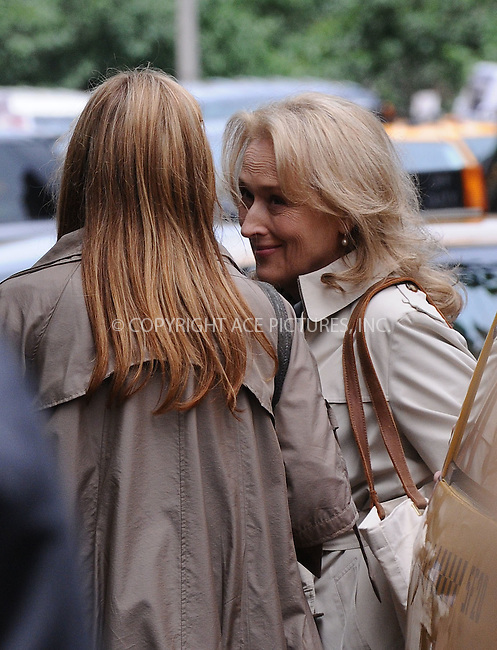 WWW.ACEPIXS.COM . . . . .  ....June 4 2009, New York City....Actress Meryl Streep on the set of the Nancy Myer film project on June 4 2009 in New York City......Please byline: AJ Sokalner - ACEPIXS.COM..... *** ***..Ace Pictures, Inc:  ..tel: (212) 243 8787..e-mail: info@acepixs.com..web: http://www.acepixs.com