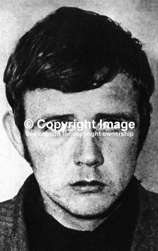 William James Kelly, 24 years, republican, escapee, from Maze Prison, N Ireland, 11th March 1973. 197303110050.<br /> <br /> Copyright Image from Victor Patterson, 54 Dorchester Park, Belfast, UK, BT9 6RJ<br /> <br /> t1: +44 28 9066 1296 (from Rep of Ireland 048 9066 1296)<br /> t2: +44 28 9002 2446 (from Rep of Ireland 048 9002 2446)<br /> m: +44 7802 353836<br /> <br /> e1: victorpatterson@me.com<br /> e2: victorpatterson@gmail.com<br /> <br /> The use of my copyright images is subject to my Terms &amp; Conditions.<br /> <br /> It is IMPORTANT that you familiarise yourself with them. They are available on my website at www.victorpatterson.com.<br /> <br /> None of my copyright images may be used on a website unless they are visibly watermarked, i.e. &copy; Victor Patterson within the body of the visible image. Metadata denoting my copyright must NOT be deleted. <br /> <br /> Web use (maximum size - 300 kb) is extra at currently recommended NUJ rates.