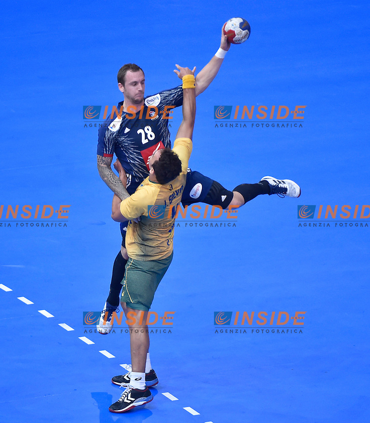 Valentin Porte (France)<br /> Parigi 12-01-2017 <br /> Campionato del mondo di Pallamano <br /> Francia Brasile <br /> Foto Panoramic/Insidefoto