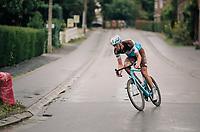 race leader Stijn Vandenbergh (BEL/AG2R-La Mondiale) solo's ahead<br /> <br /> 2018 Binche - Chimay - Binche / Memorial Frank Vandenbroucke (1.1 Europe Tour)<br /> 1 Day Race: Binche to Binche (197km)