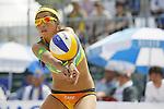 Takemi Nishibori, MAY 6, 2012 - Beach Volleyball : JBV Tour 2012 Sports Club NAS Open  Women's final at Odaiba Beach, Tokyo, Japan. (Photo by Yusuke Nakanishi/AFLO SPORT) [1090]