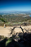 USA, Los Angeles, hiking trails at the end of Mulholland Dr.