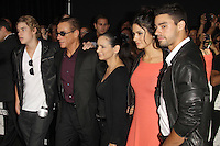 Jean-Claude Van Damme and family at Lionsgate Films' 'The Expendables 2' premiere on August 15, 2012 in Hollywood, California. &copy;&nbsp;mpi28/MediaPunch Inc. /NortePhoto.com<br />