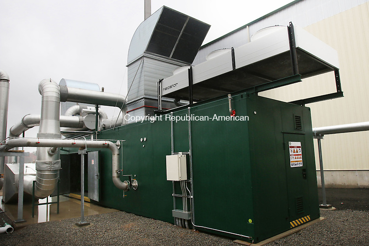 SOUTHINGTON CT. 15 November 2016-111516SV09-A view of the combined heat and power unit at Quantum Power's anaerobic digester, which opened with a ribbon cutting, in Southington Tuesday.<br /> Steven Valenti Republican-American