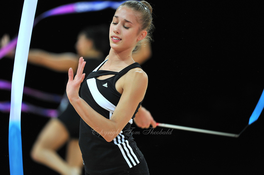 September 18, 2011; Montpellier, France;   SHELBY KISIEL of USA trains with ribbon at 2011 World Championships Montpellier.