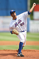 April 12, 2009:  Pitcher Angel Calero (26) of the St. Lucie Mets, Florida State League Class-A affiliate of the New York Mets, during a game at Tradition Field in St. Lucie, FL.  Photo by:  Mike Janes/Four Seam Images