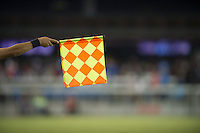 Offsides flag and assistant referee.