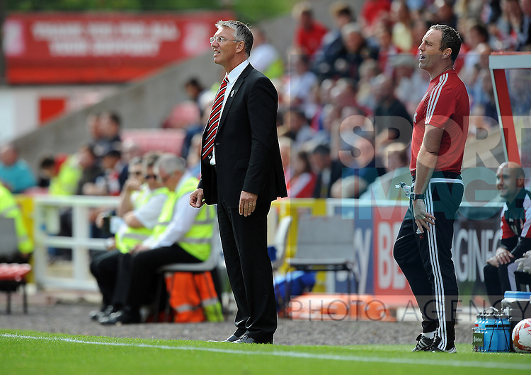 Sheffield United Manager Nigel Adkins<br /> - English League One - Swindon Town vs Sheffield Utd - County Ground Stadium - Swindon - England - 29th August 2015