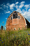 Old abandoned barn structure in the Palouse Valley