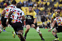 Hurricanes' Jeffery Toomaga-Allen in action during the Super Rugby - Hurricanes v Southern Kings at Westpac Stadium, Wellington, New Zealand on Friday 25 March 2016.<br /> Photo by Masanori Udagawa. <br /> www.photowellington.photoshelter.com.
