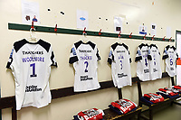 A general view of the away changing rooms at Welford Road. Gallagher Premiership match, between Leicester Tigers and Bristol Bears on April 27, 2019 at Welford Road in Leicester, England. Photo by: Patrick Khachfe / JMP