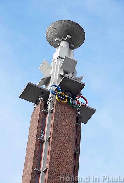 Nederland - Amsterdam - 2018 . Het Olympisch Stadion. Schaal voor de olympische vlam.   Foto Berlinda van Dam / Hollandse Hoogte