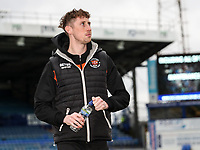 Blackpool's Joe Bunney relaxing before the match <br /> <br /> Photographer Andrew Kearns/CameraSport<br /> <br /> The EFL Sky Bet League One - Portsmouth v Blackpool - Saturday 12th January 2019 - Fratton Park - Portsmouth<br /> <br /> World Copyright &copy; 2019 CameraSport. All rights reserved. 43 Linden Ave. Countesthorpe. Leicester. England. LE8 5PG - Tel: +44 (0) 116 277 4147 - admin@camerasport.com - www.camerasport.com