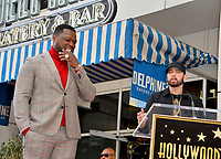"""LOS ANGELES, CA. January 30, 2020: Curtis 50 Cent Jackson & Eminem at the Hollywood Walk of Fame Star Ceremony honoring Curtis """"50 Cent"""" Jackson.<br /> Pictures: Paul Smith/Featureflash"""