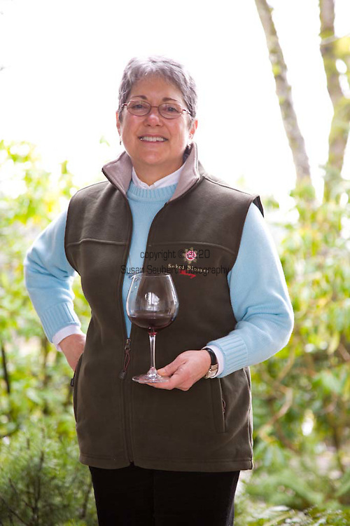Susan Sokol Blossor at the Sokol Blossor winery in Dundee, Oregon