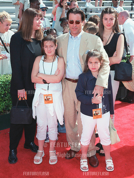 "12JUN99: Actor ANDY GARCIA & family at the world premiere in Hollywood of Disney's latest animated movie ""Tarzan"". .© Paul Smith/Featureflash"