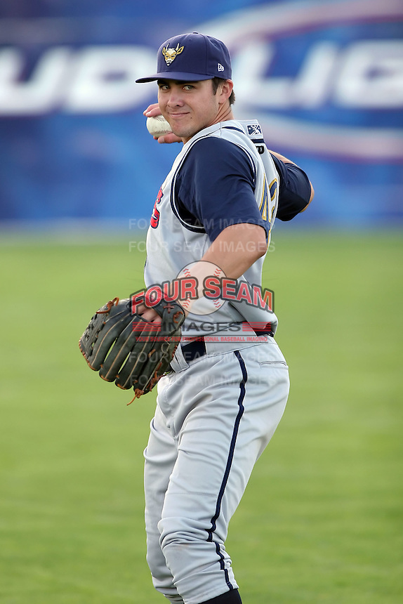 August 2nd 2008:  Shortstop Chase D'Arnaud of the State College Spikes, Class-A affiliate of the Pittsburgh Pirates, during a game at Dwyer Stadium in Batavia, NY.  Photo by:  Mike Janes/Four Seam Images