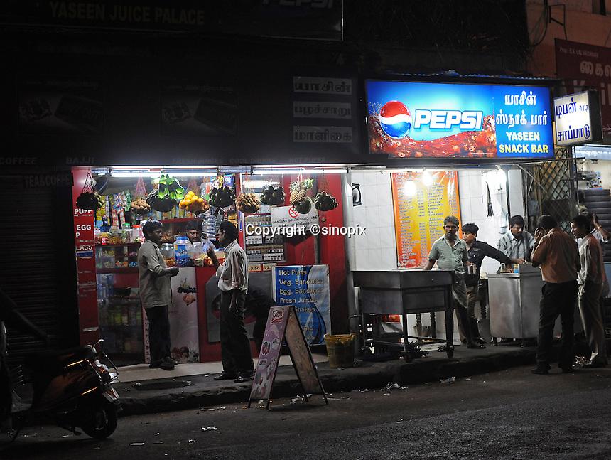 Drink stand in Madras, India