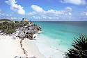 Mayan ruins at Tulum Mexico near beach