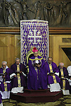 Israel, Jerusalem Old City, the Latin Patriarch of Jerusalem Fouad Twal offers Mass by the Altar of Mary Magdalene at the Church of the Holy Sepulchre on the First Sunday of Lent