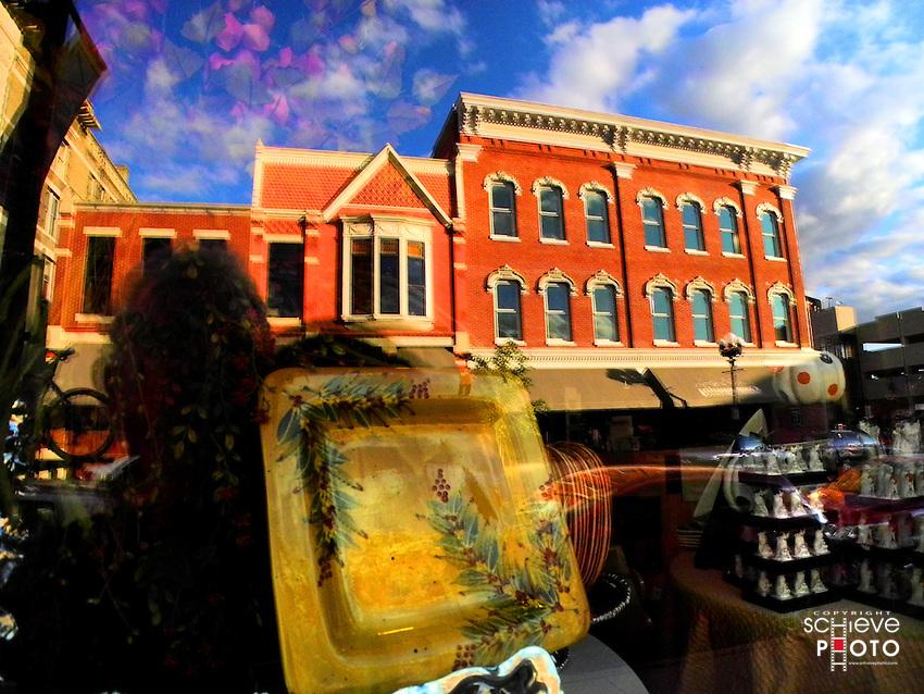 Downtown La Crosse, Wisconsin storefronts.