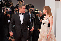 "Julianne Moore, Matt Damon at the ""Suburbicon"" premiere, 74th Venice Film Festival in Italy on 2 September 2017.<br /> <br /> Photo: Kristina Afanasyeva/Featureflash/SilverHub<br /> 0208 004 5359<br /> sales@silverhubmedia.com"