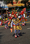 California, San Francisco: Indigenous person dancer at Carnaval celebration in the Mission District..Photo #: 30-casanf81151.Photo © Lee Foster 2008